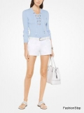 Svetr Michael Kors Lace Up Sweater