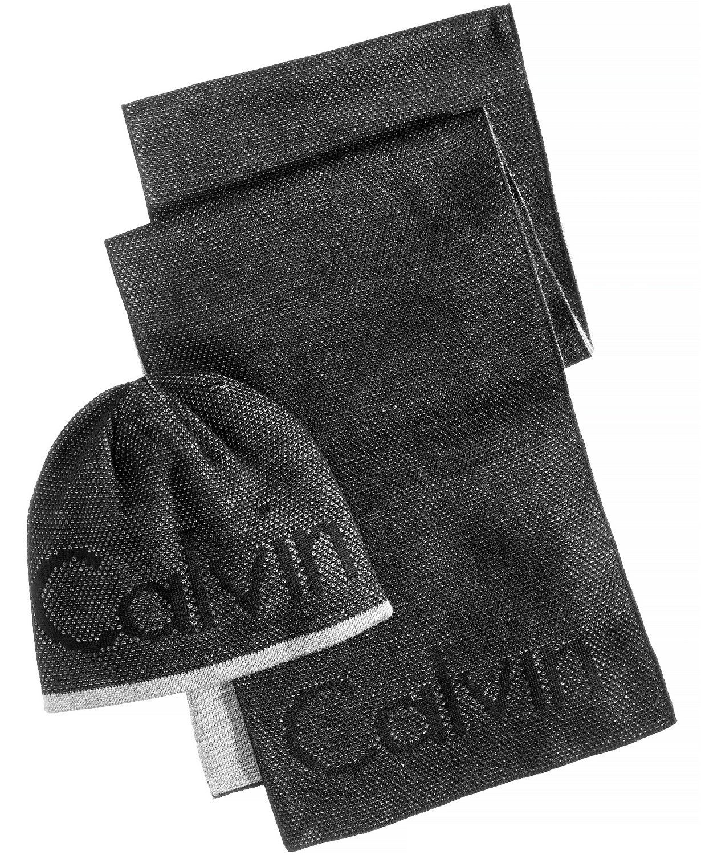 28ee139465 Pánská čepice a šála Calvin Klein