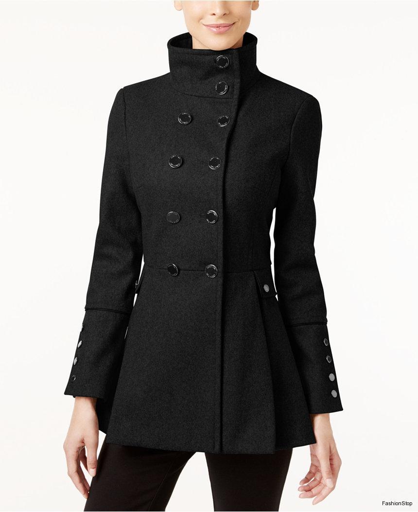 Dámský vlněný kabát Calvin Klein Skirted Coat  0f207560fa