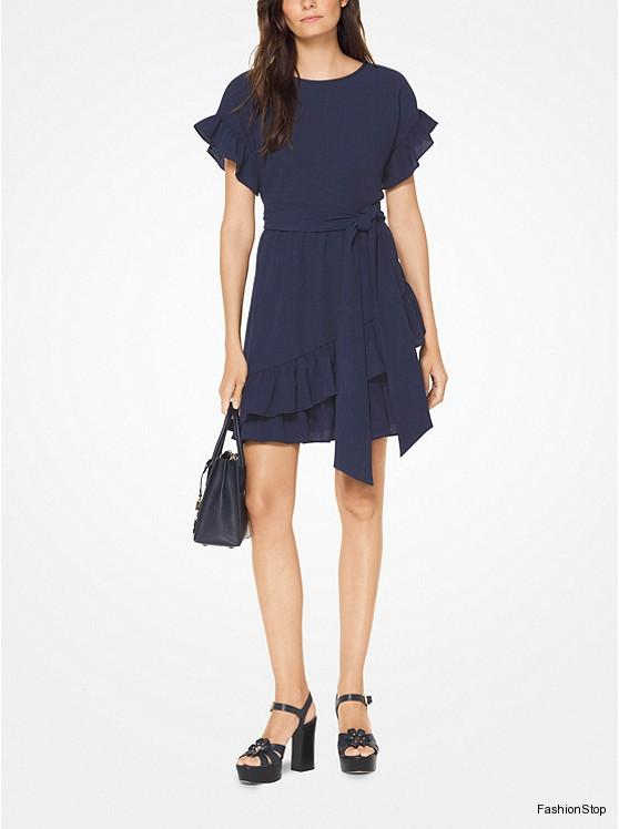 Dámské šaty Michael Kors Wrap Dress  c54b4d780ad