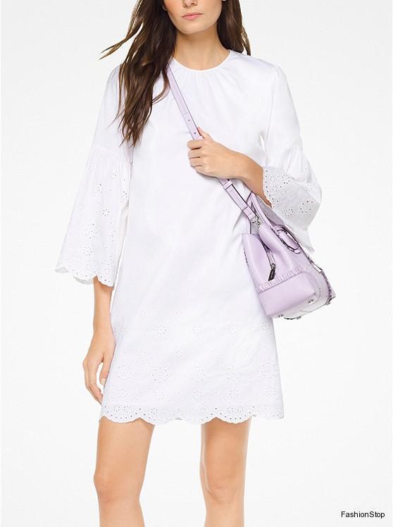 Dámské šaty Michael Kors Eyelett Dress  c34dffc1766