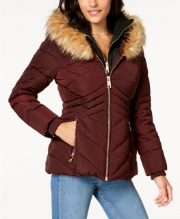 Dámská bunda Guess Hooded Puffer Coat