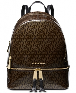 Batoh Michael Kors Rhea Medium Glossy Backpack