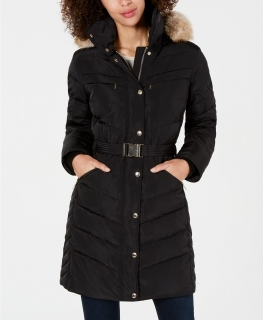 Dámská bunda Michael Kors Belted Hooded Jacket